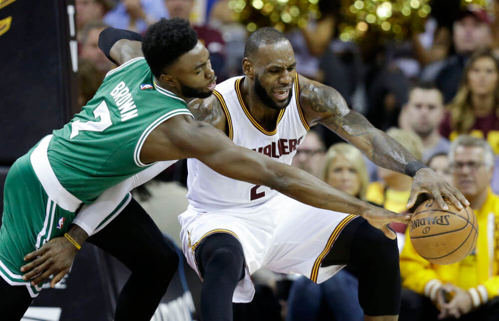 Jaylen Brown LeBron James Freedman's Bank Dos Equis NBA Playoff Rookie Award