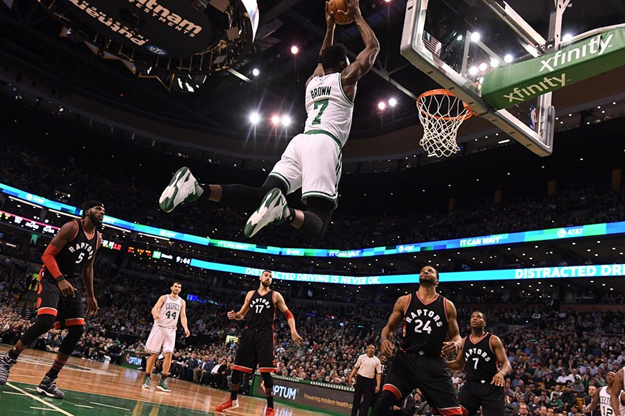 Jaylen Brown vs. Raptors Freedman's Bank Dos Equis NBA Playoff Rookie Award